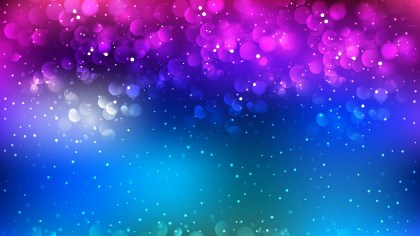 Abstract Pink and Blue Blurred Lights Background Graphic