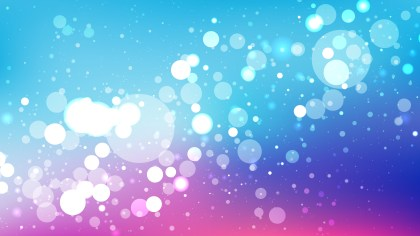 Abstract Pink and Blue Bokeh Background