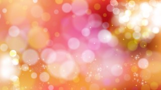 Pink and Orange Bokeh Defocused Lights Background Image