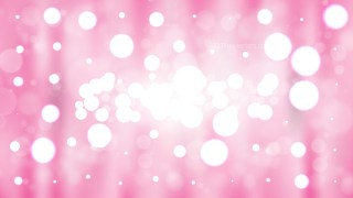 Pink and White Blurry Lights Background