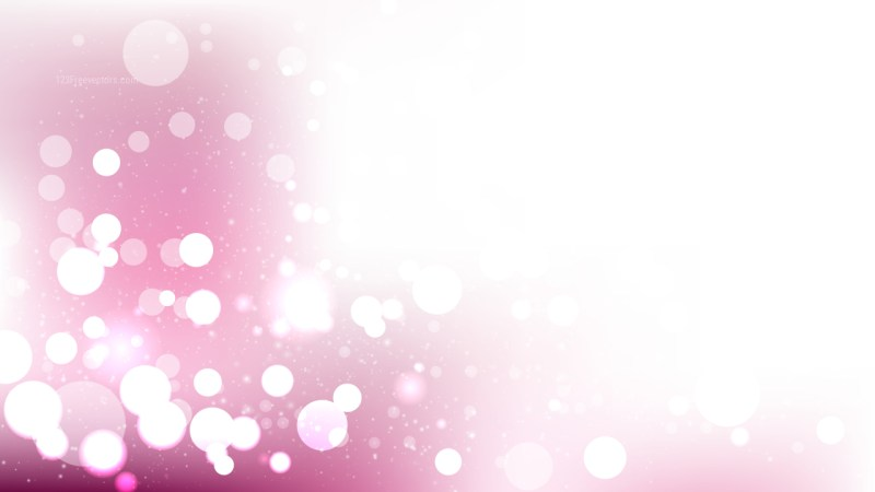 Pink and White Defocused Lights Background Graphic