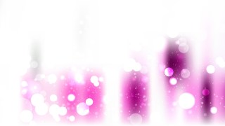Pink and White Blurred Lights Background