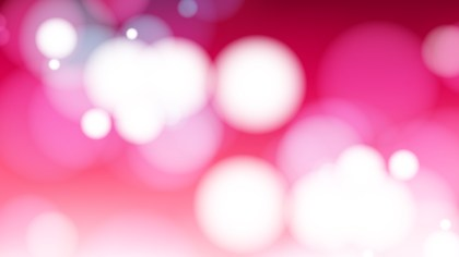 Pink and White Blur Lights Background Design
