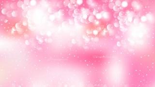 Pink and White Bokeh Background Illustrator