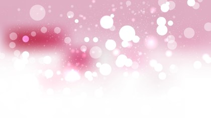 Pink and White Bokeh Lights Background Vector