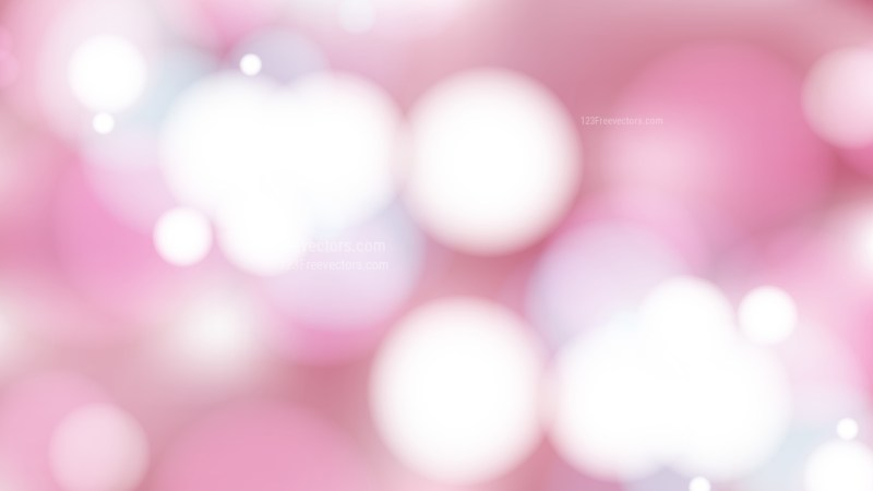Abstract Pink and White Blurred Lights Background