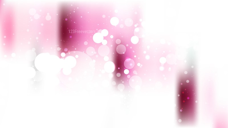 Abstract Pink and White Bokeh Defocused Lights Background Vector Illustration