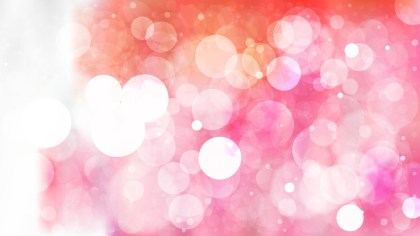Abstract Pink and White Bokeh Lights Background Vector
