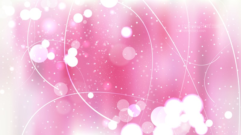 Abstract Pink and White Defocused Background Vector Art