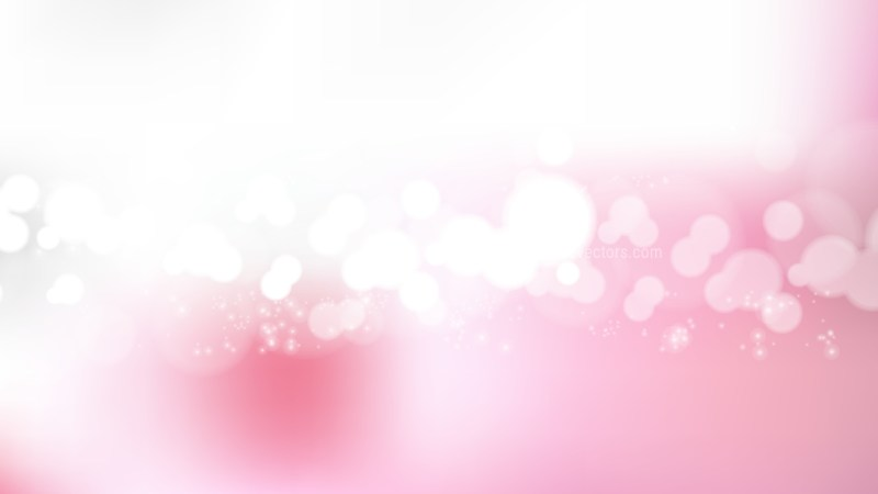 Pink and White Bokeh Background