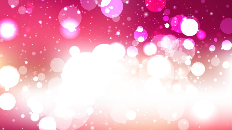 Pink and White Bokeh Lights Background