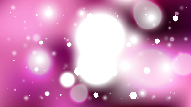 Pink and White Bokeh Lights Background Design