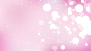 Pink and White Blurred Bokeh Background