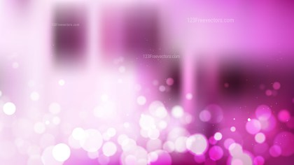 Pink and White Defocused Lights Background Vector
