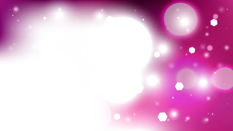 Abstract Pink and White Lights Background Vector Illustration