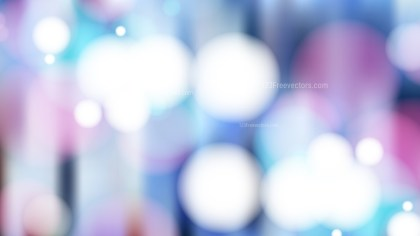 Pink Blue and White Blurred Bokeh Background