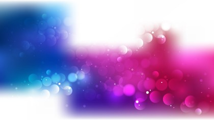 Abstract Pink Blue and White Blur Lights Background Vector