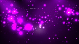 Abstract Purple and Black Bokeh Lights Background Vector Graphic