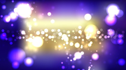 Purple and Gold Bokeh Background