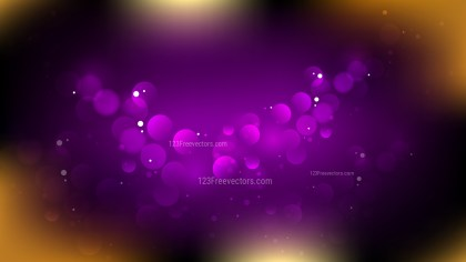 Abstract Purple and Gold Bokeh Defocused Lights Background Vector Image