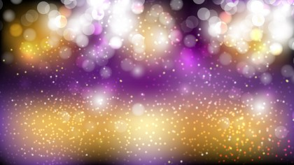 Abstract Purple and Gold Defocused Lights Background Vector