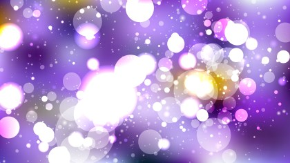 Purple and White Defocused Lights Background Vector Graphic