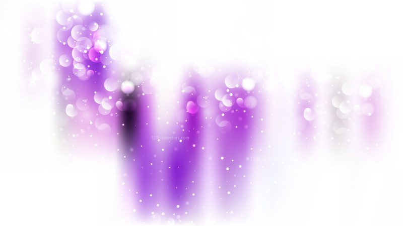 Abstract Purple and White Blurred Bokeh Background Vector Illustration