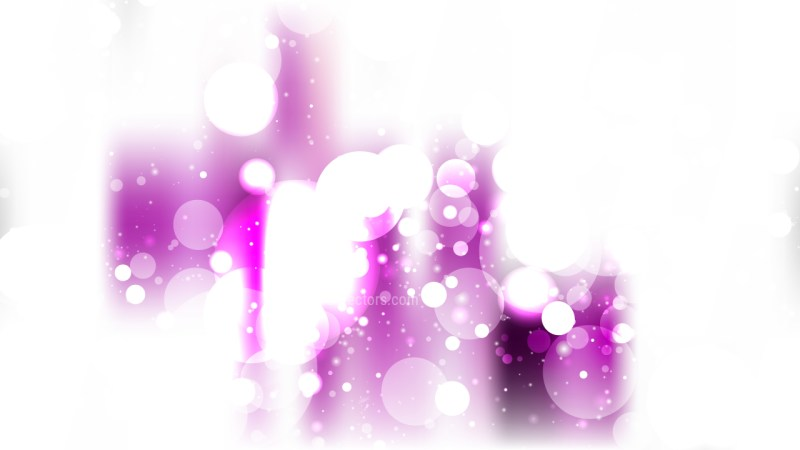 Abstract Purple and White Defocused Lights Background Vector Graphic