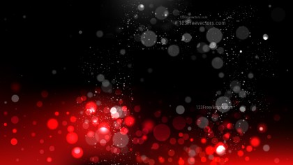 Red and Black Blurred Bokeh Background Vector Image