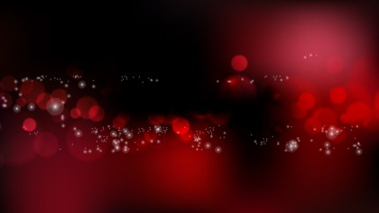 Abstract Red and Black Bokeh Defocused Lights Background Vector Illustration