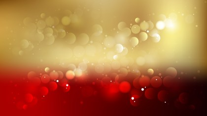 Abstract Red and Gold Bokeh Lights Background Graphic