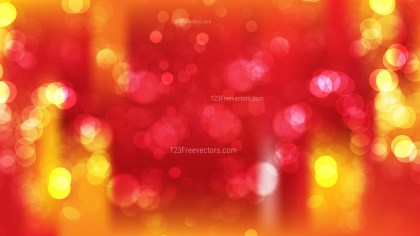 Abstract Red and Orange Bokeh Background Design