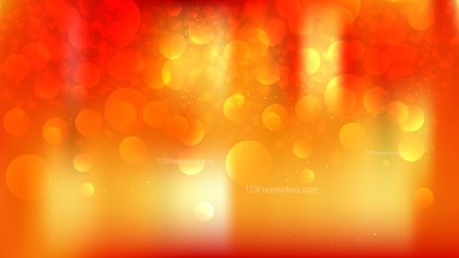 Abstract Red and Orange Bokeh Defocused Lights Background Image