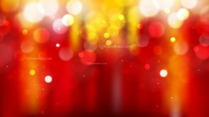 Abstract Red and Orange Blur Lights Background Vector Graphic