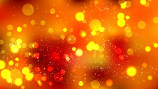 Abstract Red and Orange Blurred Bokeh Background