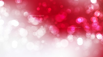 Red and White Bokeh Background Vector Graphic