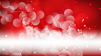 Red and White Bokeh Defocused Lights Background Vector Image