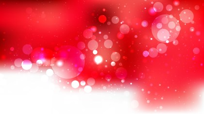 Red and White Bokeh Lights Background Illustrator