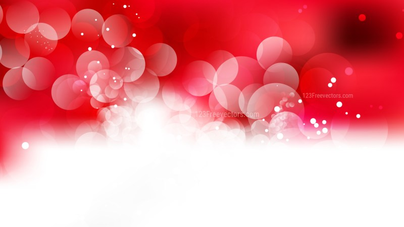 Red and White Defocused Background Vector Illustration