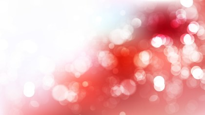 Red and White Blurred Bokeh Background