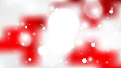 Red and White Blurred Lights Background