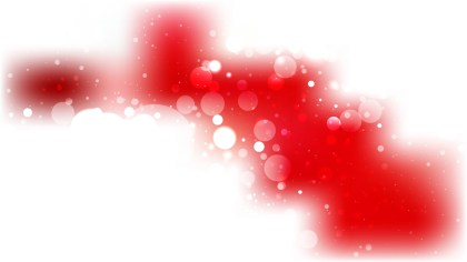 Red and White Bokeh Lights Background