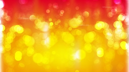 Abstract Red and Yellow Blurred Bokeh Background