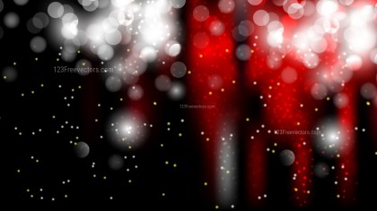 Red Black and White Bokeh Defocused Lights Background