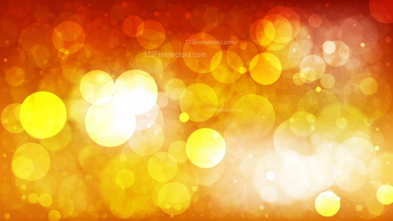 Abstract Red Orange and White Bokeh Defocused Lights Background Illustration