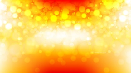 Abstract Red White and Yellow Bokeh Background Vector Graphic