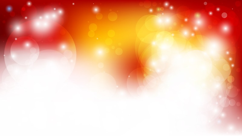 Abstract Red White and Yellow Blurry Lights Background