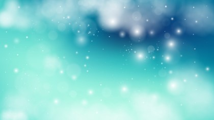 Turquoise Blur Lights Background