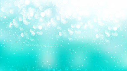 Turquoise and White Bokeh Lights Background