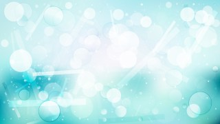 Turquoise and White Defocused Lights Background
